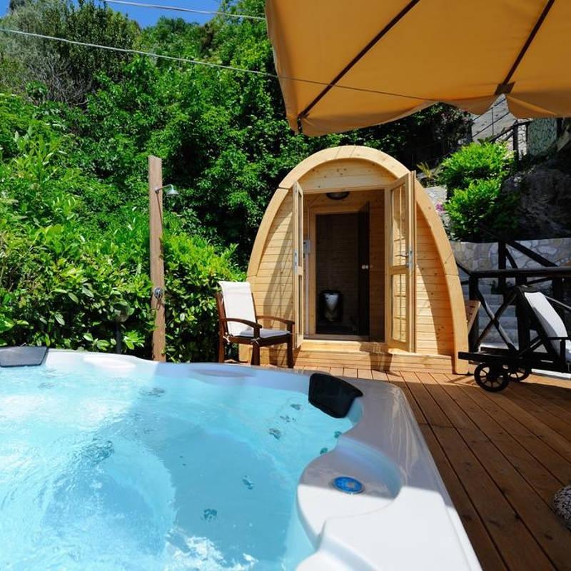 Sauna ad iglu da giardino o terrazza