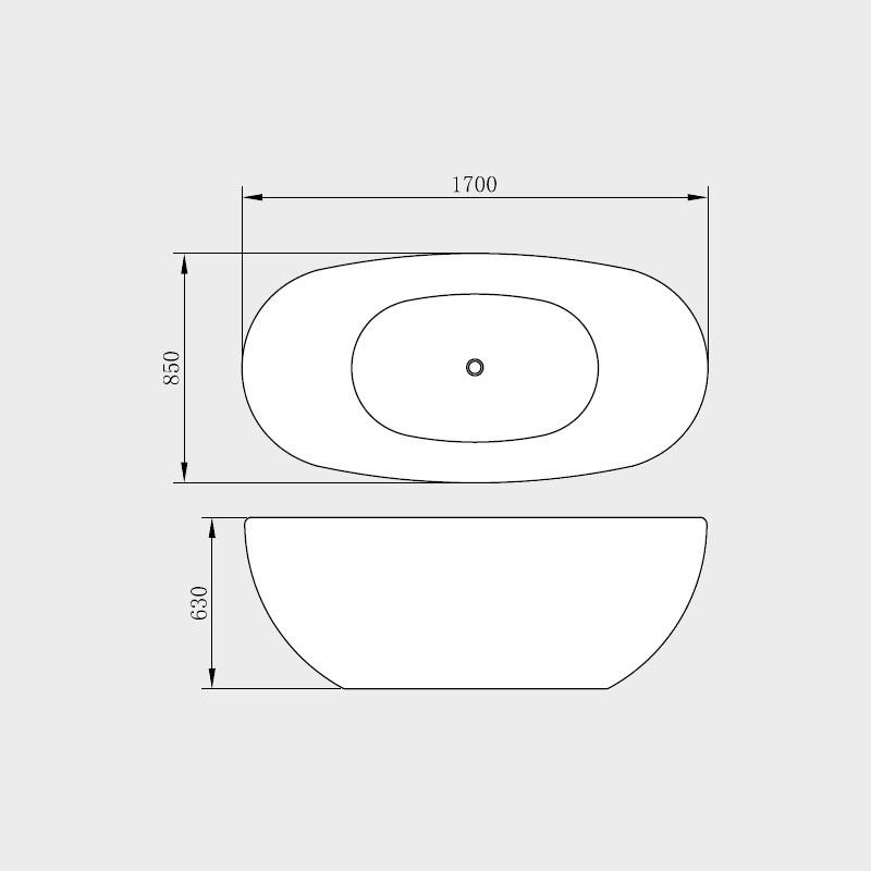 Vasca da bagno freestanding blazar 170x85 cm - Pulire la vasca da bagno ...
