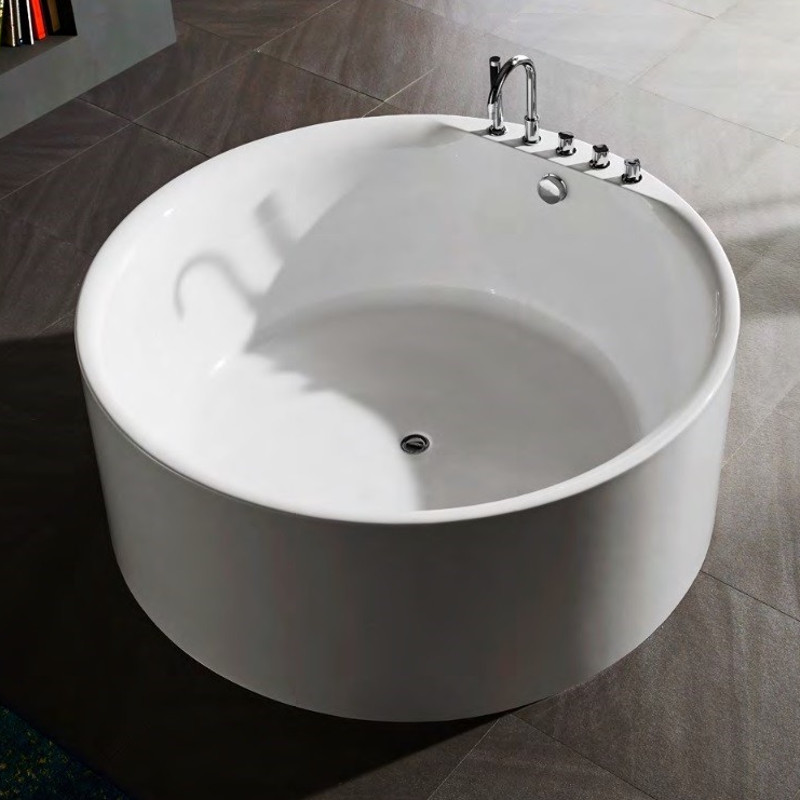 Vasca da bagno freestanding circolare rotonda idra ottimo prezzo - Vasca da bagno rotonda ...