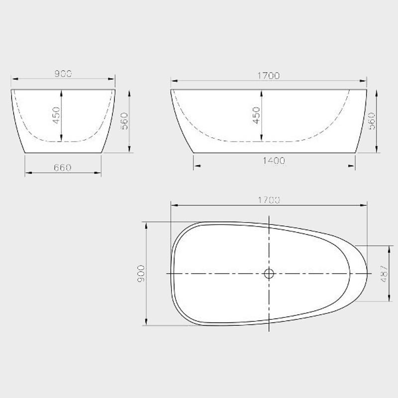Vasca da bagno freestanding 170x90 cm auriga - Rifacimento vasca da bagno ...