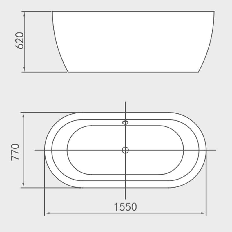 Larghezza vasca da bagno finest idee di dimensioni standard vasca da bagno image gallery with - Larghezza vasca da bagno ...