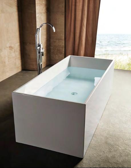 Vasca da bagno freestanding da appoggio 170x75 cm polaris in offerta - Vasca da bagno da appoggio ...